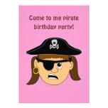 Arr Pirate Girl Cute Customizable Kid Pirate Stuff Personalized Invite