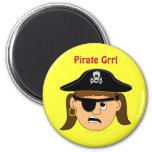 Arr Pirate Girl Cute Customizable Kid Pirate Stuff Fridge Magnets