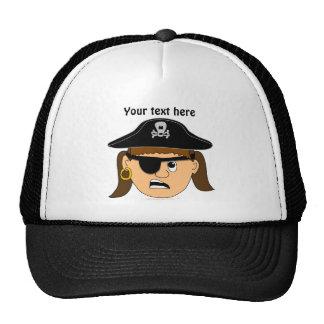 Arr Pirate Girl Cute Customizable Pirate Stuff Trucker Hat