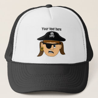 Arr Pirate Girl Cute Customizable Pirate Stuff Trucker Hat