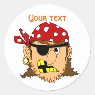 Arr Pirate Man Customizable Pirate Stuff Classic Round Sticker