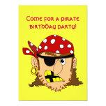 Arr Pirate Man Customizable Pirate Stuff 5x7 Paper Invitation Card