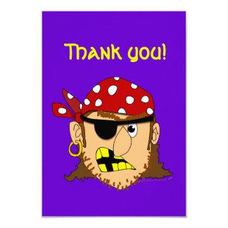 """Arr Pirate Man Customizable Pirate Stuff 3.5"""" X 5"""" Invitation Card"""