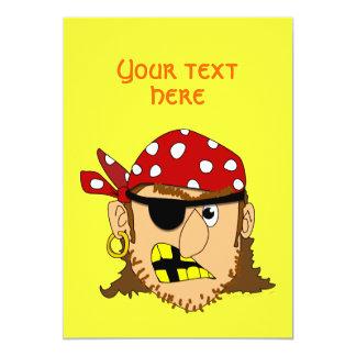 """Arr Pirate Man Customizable Pirate Stuff 5"""" X 7"""" Invitation Card"""