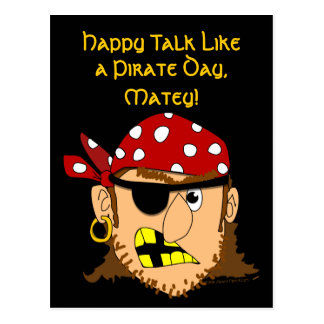 Arr Pirate Man Customizable Pirate Stuff Postcard
