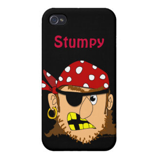 Arr Pirate Man With Bandanna and Eyepatch Custom iPhone 4 Case