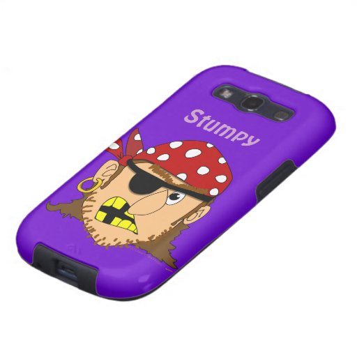 Arr Pirate Man With Bandanna Personalized Samsung Galaxy S3 Case