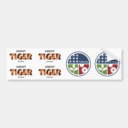 """ARRA Recovery/Stimulus 2.5"""" Stickers (6)"""