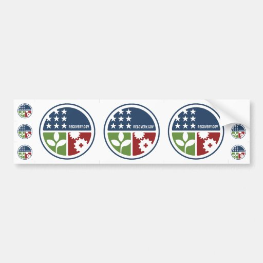 """ARRA Recovery/Stimulus 3-3"""" & 6-1"""" Stickers"""
