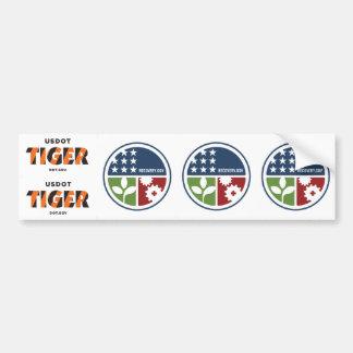 "ARRA TIGER Recovery/Stimulus 2.5"" Stickers (5) Bumper Stickers"