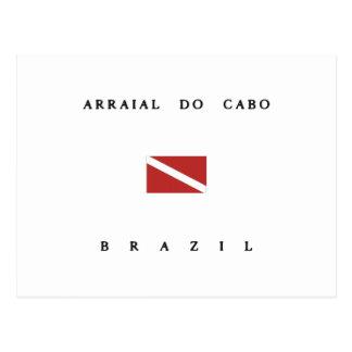 Arraial Do Cabo Brazil Scuba Dive Flag Postcard