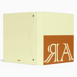 Arraias anagram, orange. binder