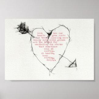 """""""arraigo de los corazones """" póster"""