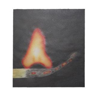 arrancador de fuego blocs de notas