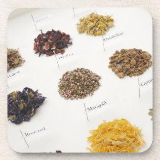 Arranged herbs coaster