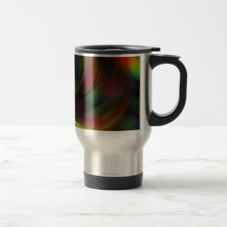 arrangement-663374 DIGITAL SWIRLS COLORFUL BACKGRO Travel Mug