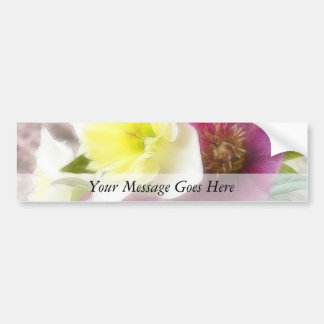 Arrangement - Daffodils And Hellebores Bumper Sticker