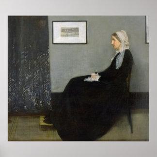 Arrangement in Grey and Black No.1 Poster