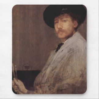 Arrangement in grey by Whistler Mouse Pad