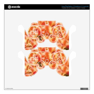 arrangement of color PS3 controller decal