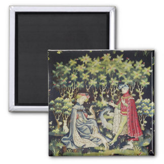 Arras Tapestry, Offering of the Heart 2 Inch Square Magnet