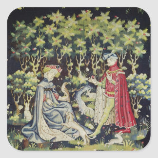 Arras Tapestry, Offering of the Heart Square Sticker