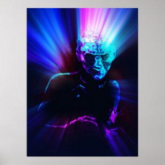 arrastramiento azul eléctrico intrépido de las mad poster