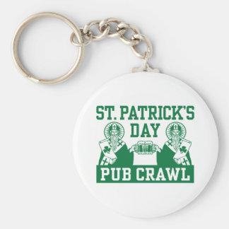 Arrastre de Pub del día de St Patrick Llavero Personalizado