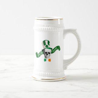 Arrastre de pub irlandés divertido jarra de cerveza
