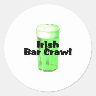Arrastre irlandés de la barra pegatina