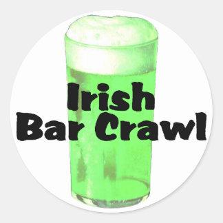 Arrastre irlandés de la barra etiqueta