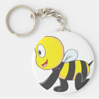 Arrastre lindo de la abeja del bebé en la camisa d llaveros personalizados