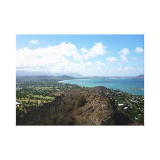 Arrastre llevar a Kailua, O'ahu, Hawai'i Lienzo Envuelto Para Galerías