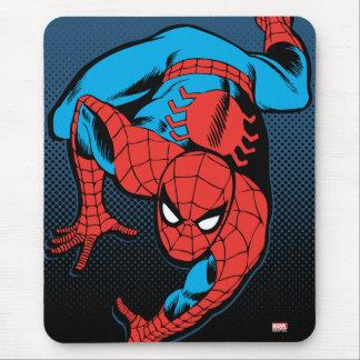 Arrastre retro de la pared de Spider-Man Alfombrillas De Raton