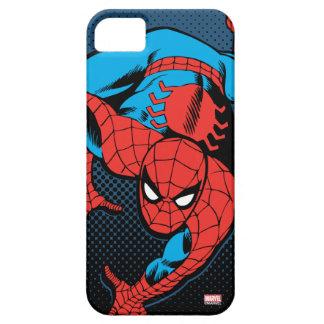 Arrastre retro de la pared de Spider-Man Funda Para iPhone SE/5/5s