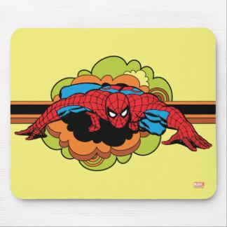 Arrastre retro de Spider-Man Alfombrillas De Ratones