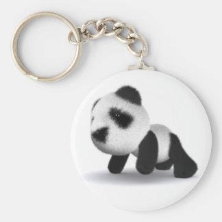 arrastres de la panda del bebé 3d llaveros personalizados