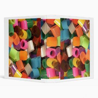 array of colour vinyl binder