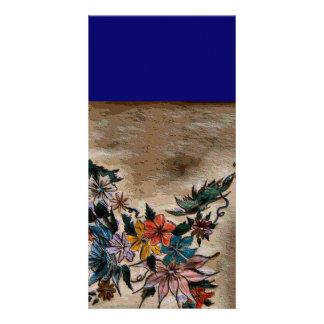 Array of flowers topog card