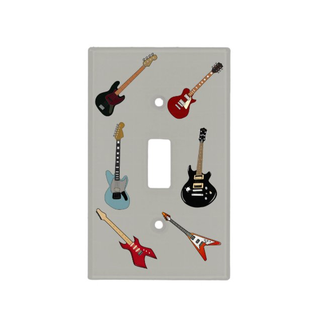 Array Of Guitars Light Switch Covers 068630