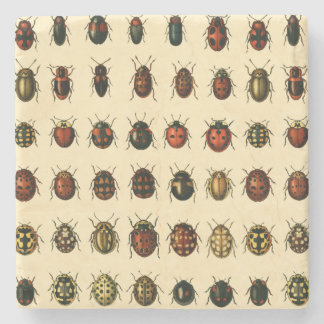 Array of Ladybirds Stone Coaster