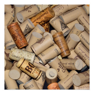 Array of Wine Corks Poster