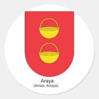 Arraya, Chile Round Sticker