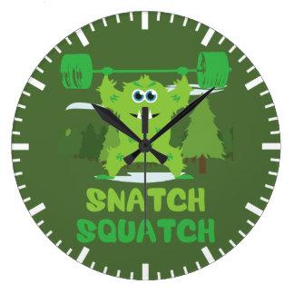 Arrebatamiento Squatch Reloj Redondo Grande