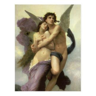 Arrebato por Bouguereau ángel del Victorian del Postales