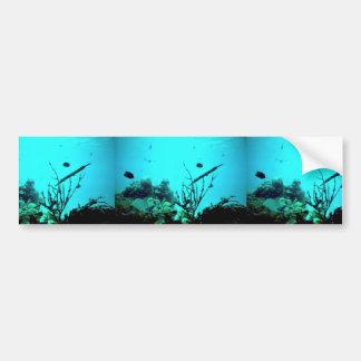 Arrecife de coral pegatina de parachoque