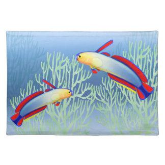 Arrecife de coral Firefish púrpura Placemats Mantel Individual