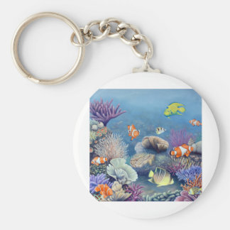 Arrecife de coral llaveros
