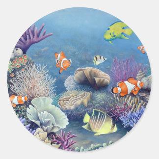 Arrecife de coral etiquetas