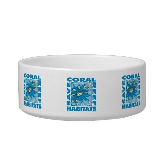 Arrecifes de coral tazones para gatos
